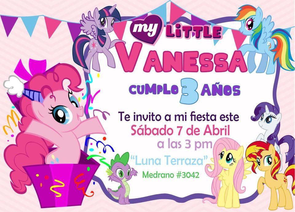 Invitación My Little Pony Pinky Pie Invitacion Cumpleaños