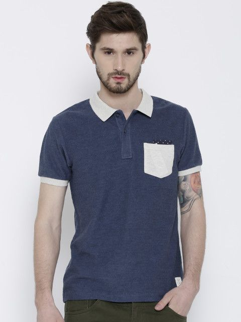 Buy United Colors Of Benetton Navy Polo T Shirt - Tshirts for Men | Myntra