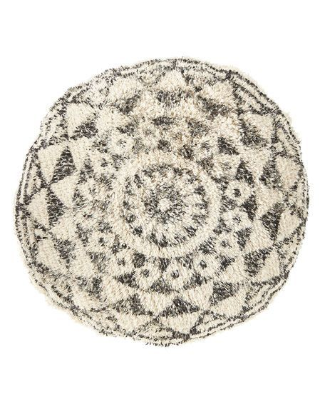Habibi Round Pillow with Insert | round decorative pillows couch #