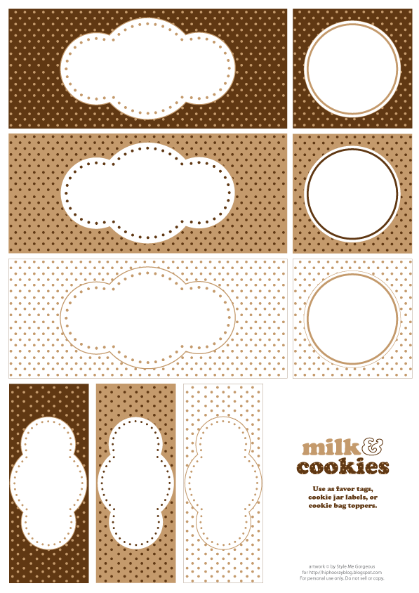 Free buffet tags thanks to everyone who dropped by here for a free printable milk and cookies labels negle Choice Image