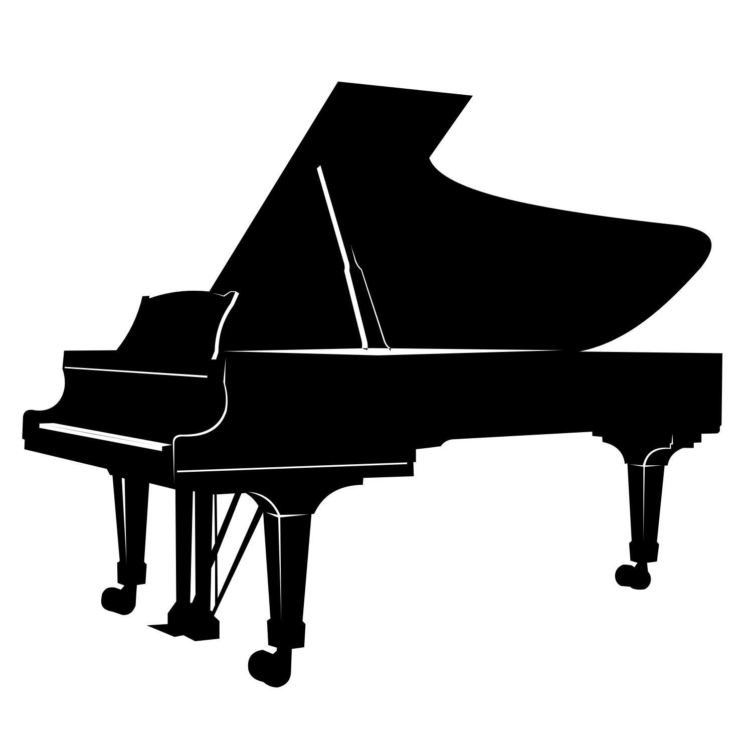Черный рояль картинка