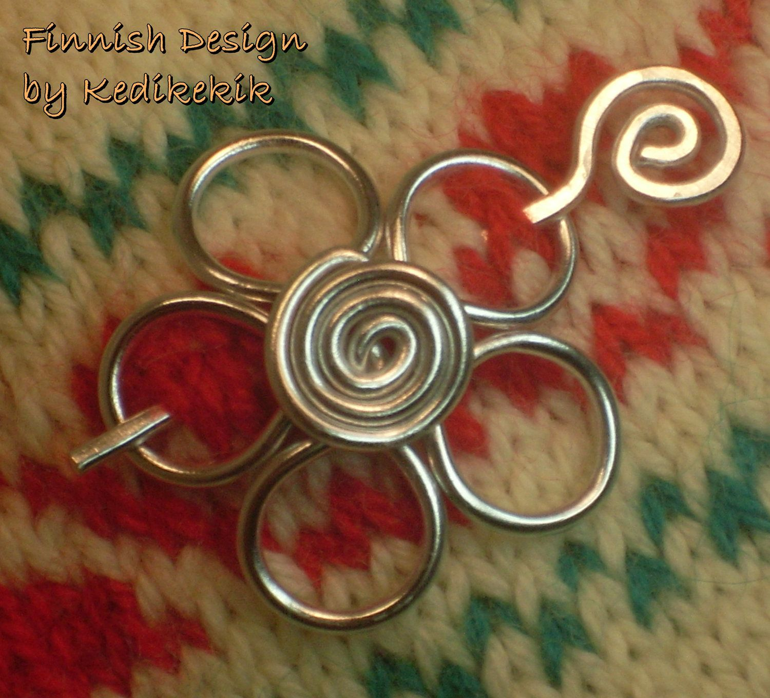 Small Flower Brooch, Hair Pin or Shawl Pin For Scarf made with ...