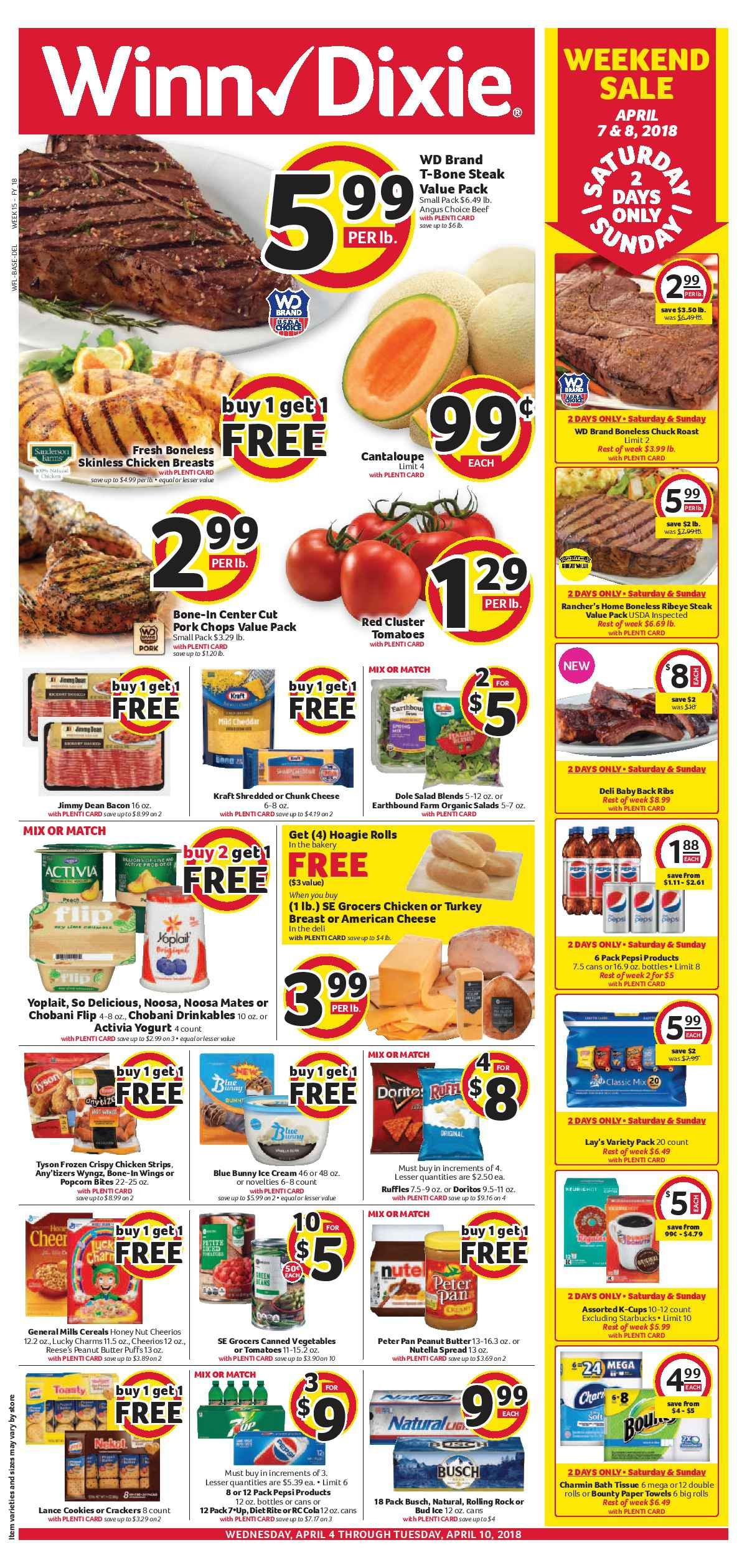 Winn Dixie Weekly ad Flyer March 28   April 3, 2018 | Weekly ads