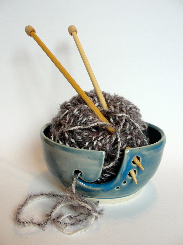 diy yarn holder bowl