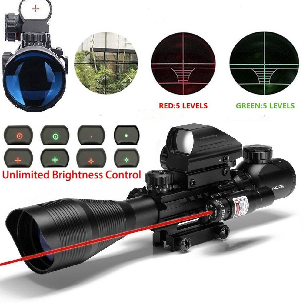 Aipa Ar15 Scope 4 12x50eg Dual Illuminated Rifle Optics Red Mossberg 715t Exploded Diagram Laser Holographic