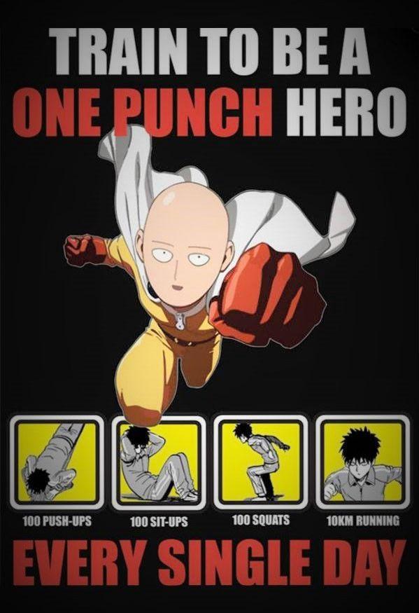- One Punch Man - Saitama. It's easy