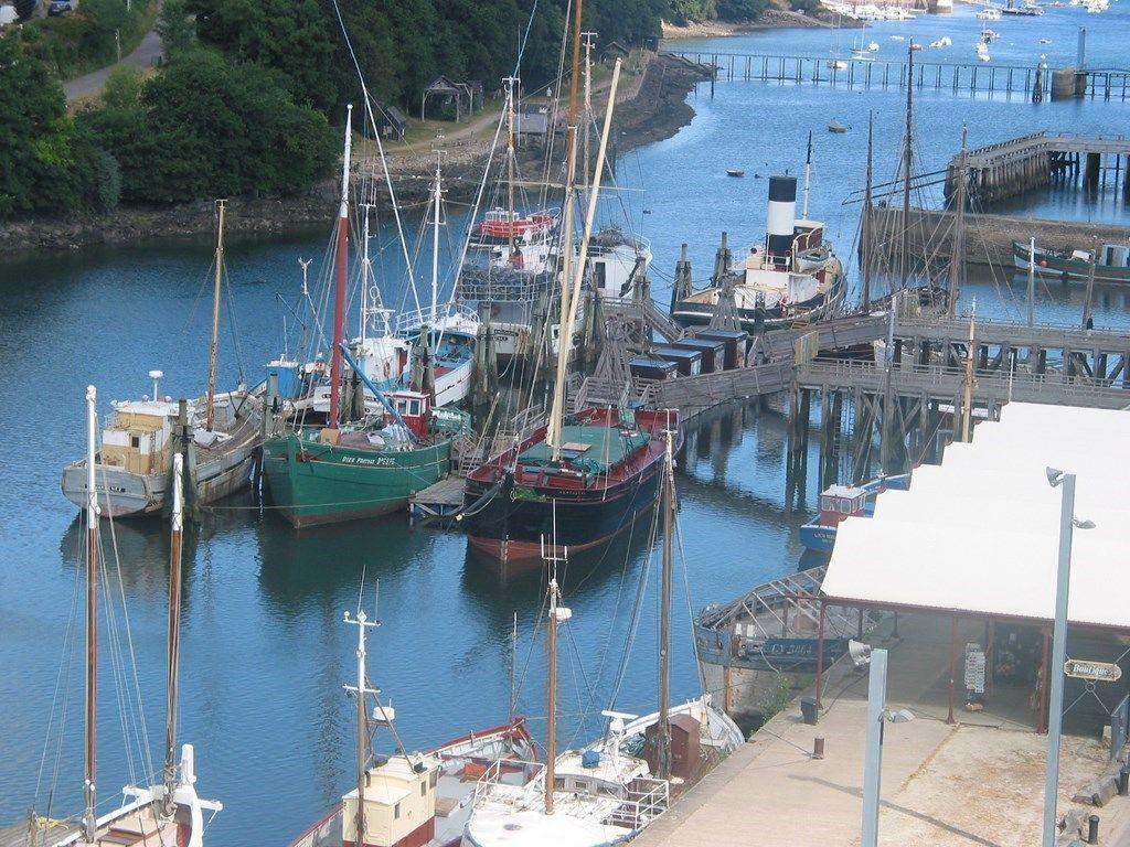 Le Port Rhu, vue du Port Musée à flot.