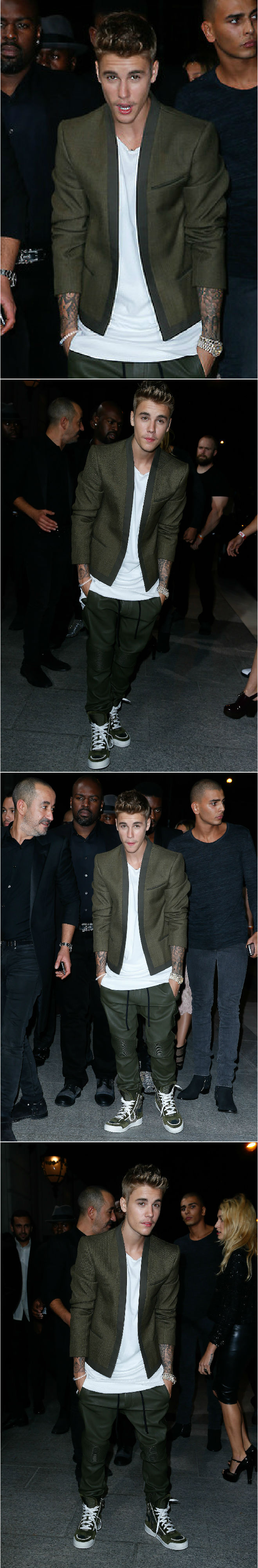 September 30: Justin attends the CR Fashion Book Party at The Peninsula in Paris, France.
