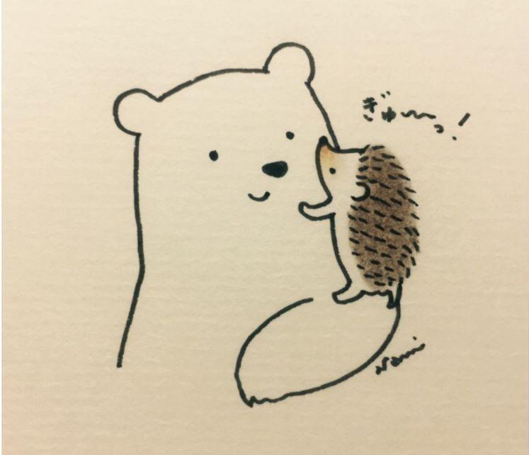 краски, дразнящие картинка ежик скучает по медвежонку работала