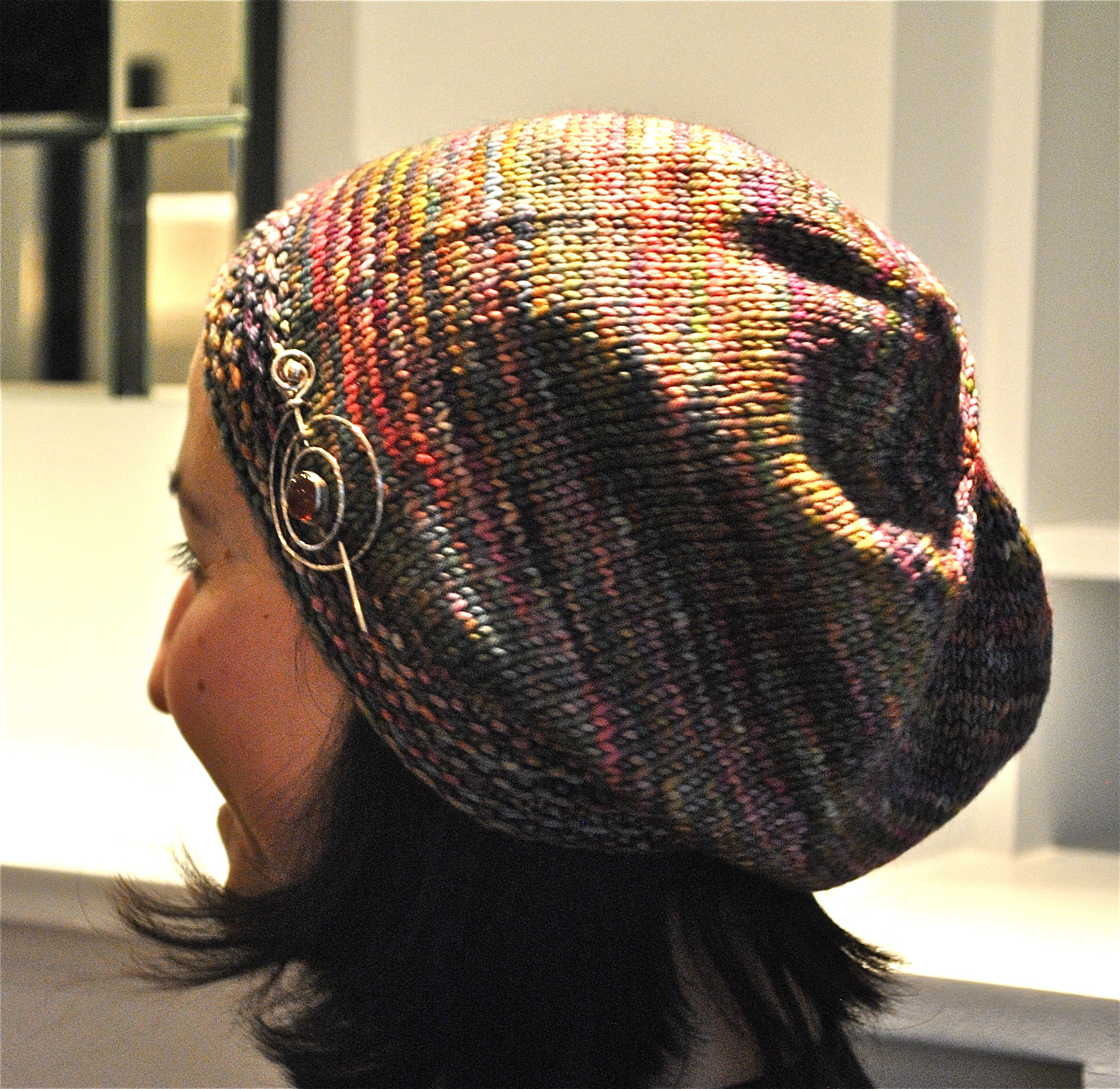 532a2a5f4ca Knit Night Hat pattern (free pattern on Ravelry) - went totally crazy and  made this hat out of every Berroco Vintage Colors shade the yarn shop had