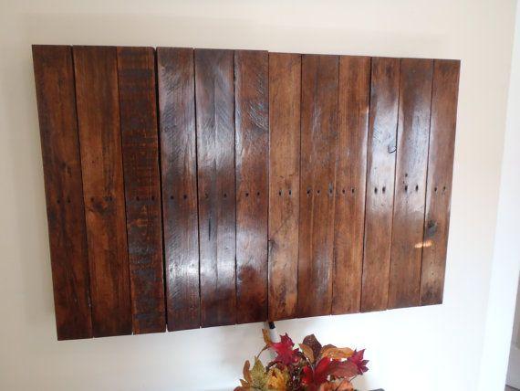 Wall Mounted Flatscreen TV Cabinet by NewCreationPallets on Etsy ...