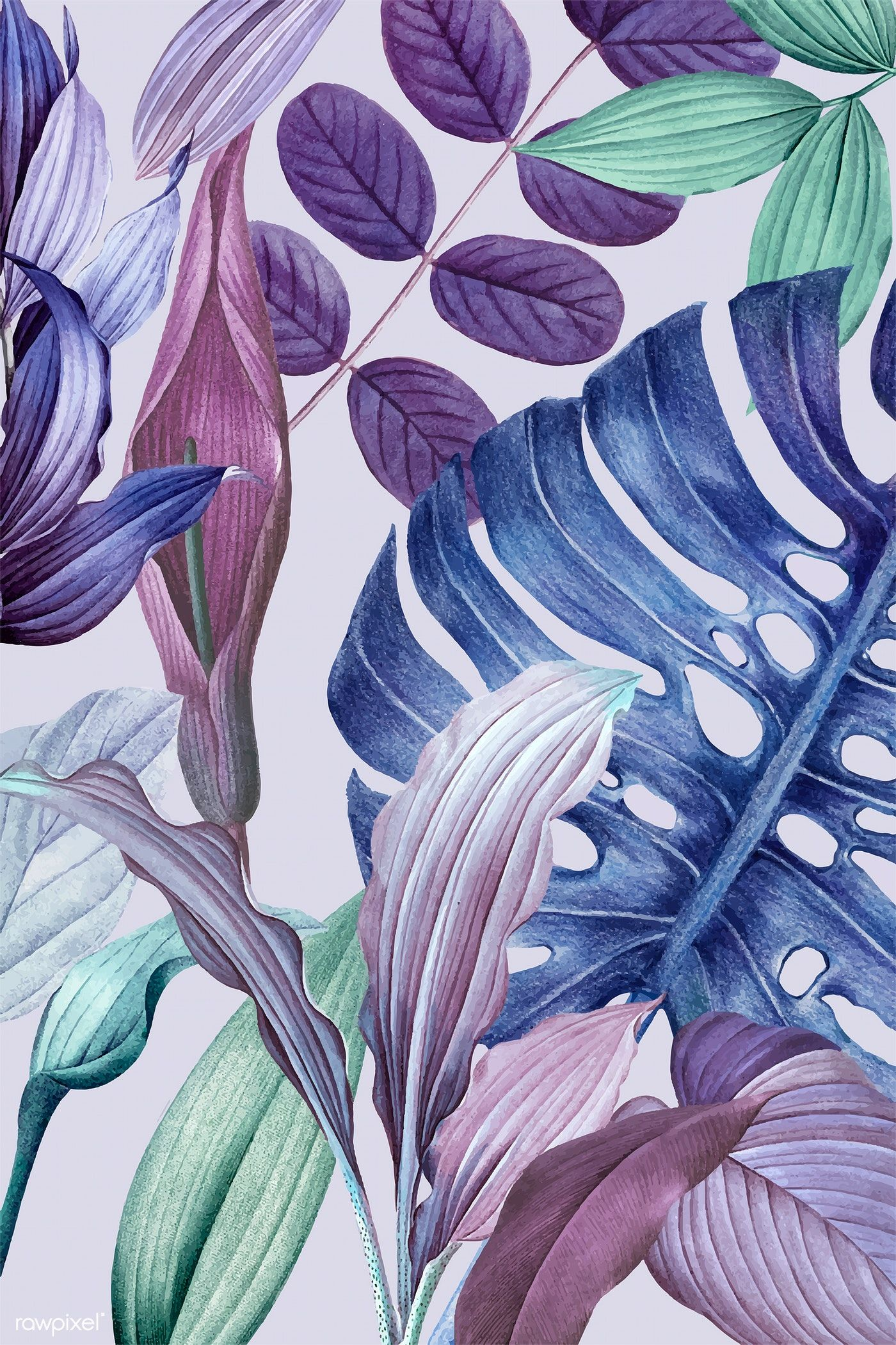 Download premium vector of Purple leafy frame design vector 1200080