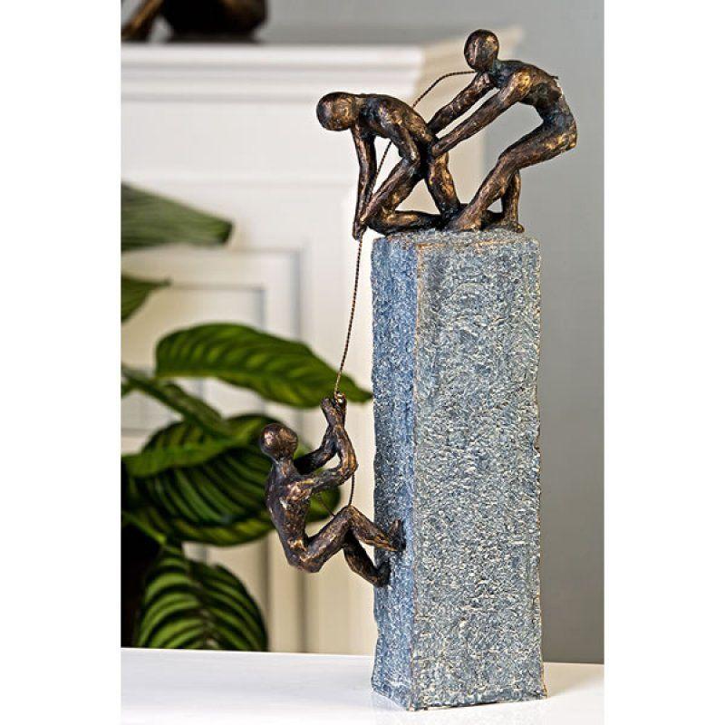 Casablanca Skulptur \'Assistance\', 43 cm, grau/bronze