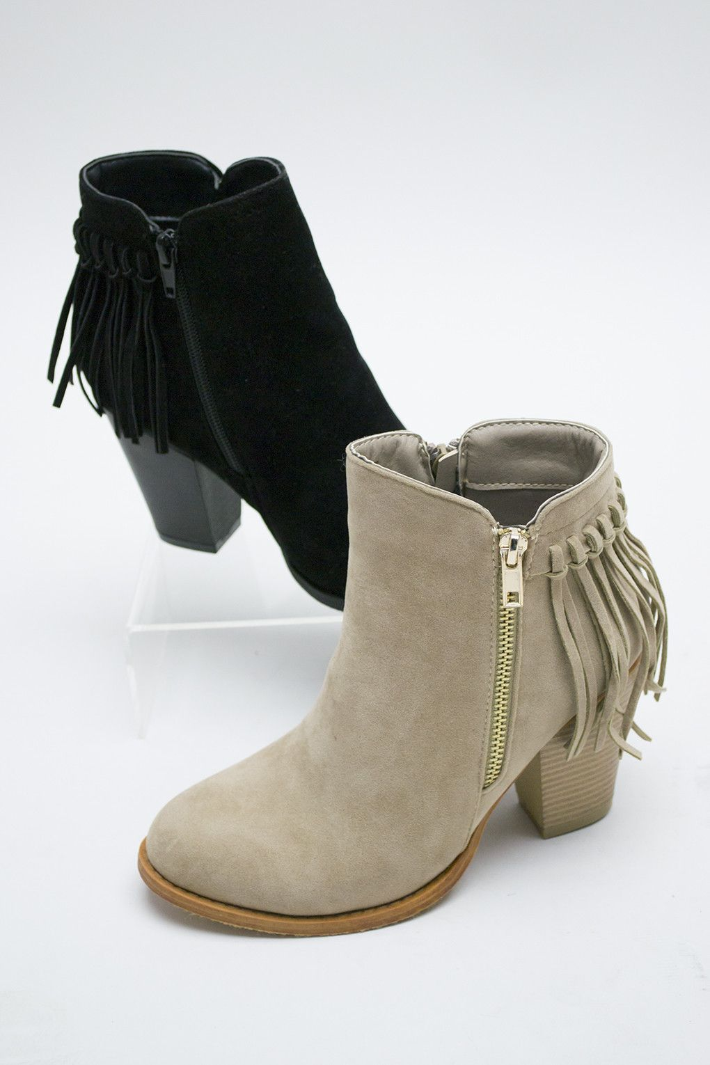 These Stone Colored Ankle Boots Are A Stunning Addition To