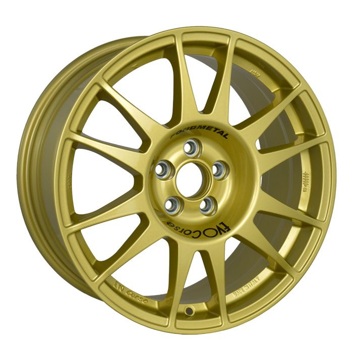 SanremoCorse 17'' Gold is the successful range of wheels realized for being used on tarmac. #WHEELS #MADEINITALY #EVOCORSE #TARMACRALLY #RALLY #GOLD #SANREMOCORSE