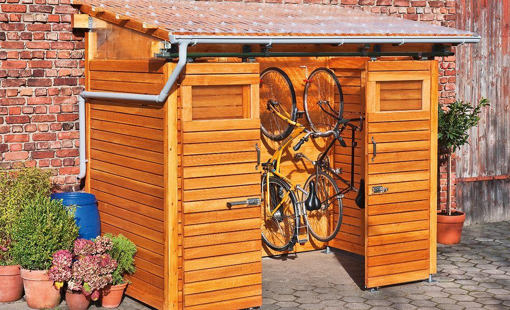fahrradschuppen aus holz zuk nftige projekte schuppen gartenhaus und garten. Black Bedroom Furniture Sets. Home Design Ideas