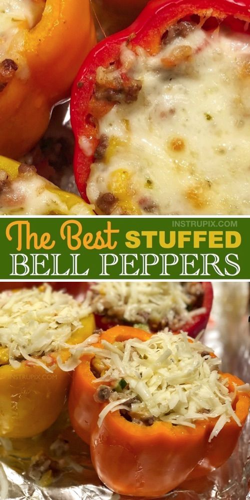A family favorite! You can even freeze them, and have dinner for the entire week!  #bellpeppers