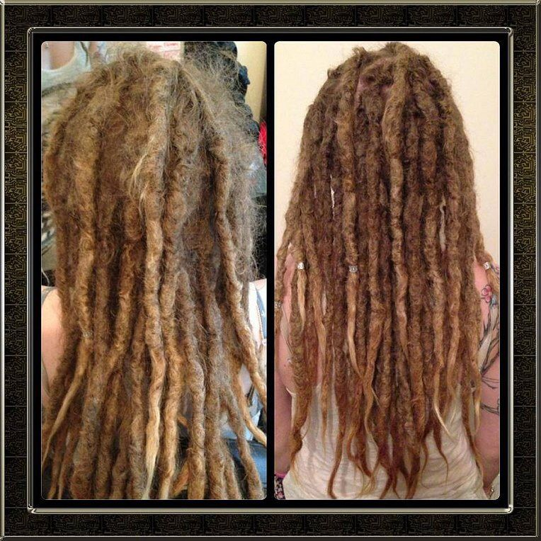 Before after permanent synthetic dread extensions dreaded to real before after permanent synthetic dread extensions dreaded to real dreads for better length and size pmusecretfo Choice Image