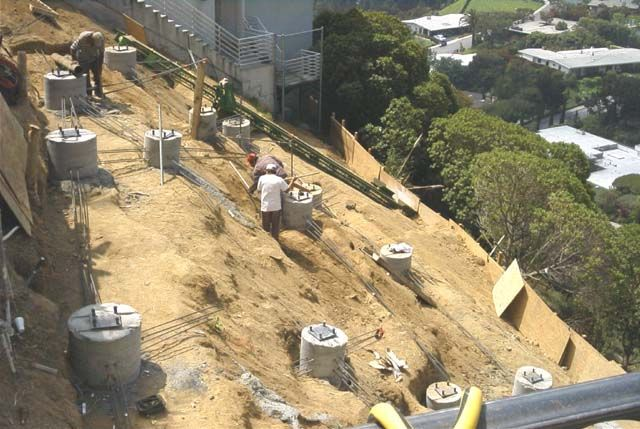 Pool ideas lucas eskin house on steep slope for House foundation on slope
