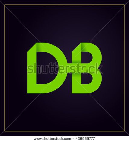 db two letter composition for initial logo or signature