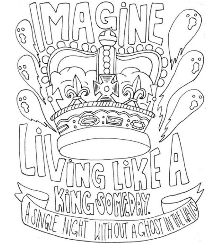 I Draw Band Lyrics Lyric Drawings Word Drawings Coloring Books