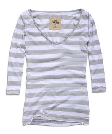 Look at this #zulilyfind! Snow White Stripe Scoop Neck Tee #zulilyfinds --- Maybe I should do something more productive with my time than surf zulily for clothes I can't buy yet.