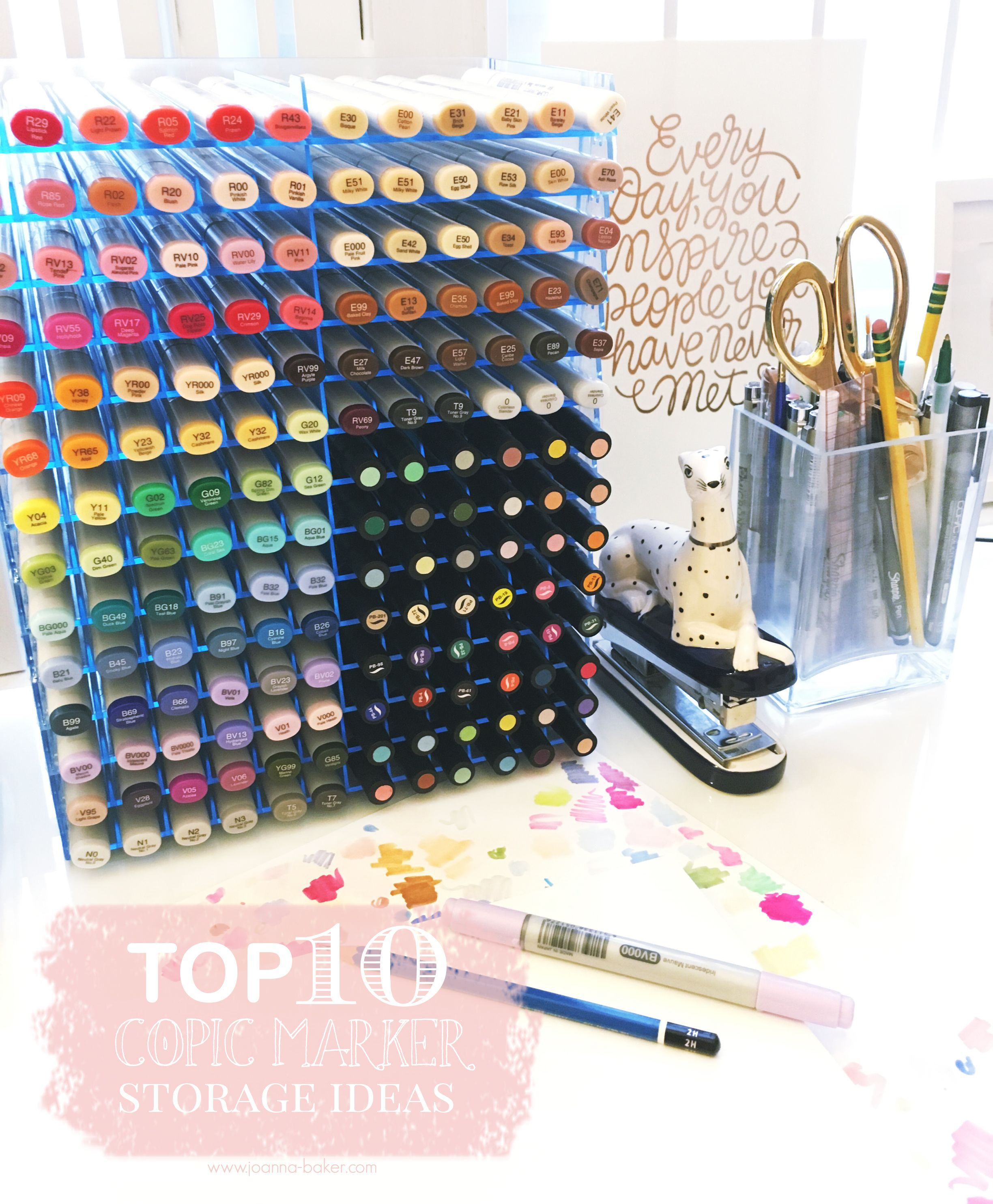 Top 10 Copic Marker Storage Ideas Marker Storage Copic Markers Colored Pencil Storage
