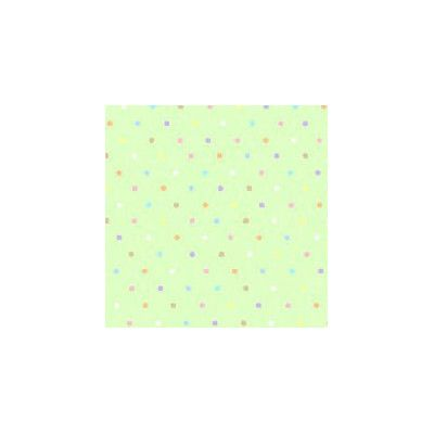 Sheetworld Pastel Pindots Woven Fabric By The Yard Color: Mint