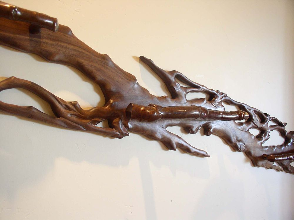 Best Sculpture Born From Necessity Rustic Frames Wall Mounted Handrail Live Edge Furniture 400 x 300