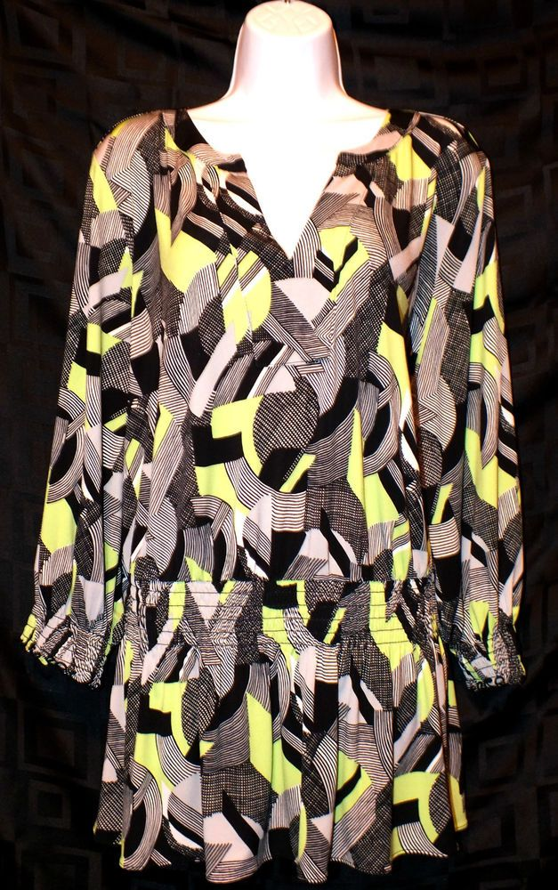 Alfani Casual Long Sleeve Womens Top Blouse Size 3x Plus #Alfani #Blouse #Casual
