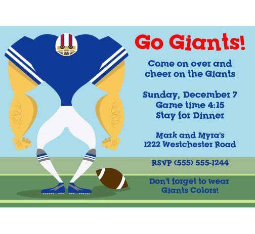 New York Giants party invitations