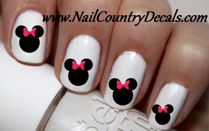 50pc Minnie Mouse Ears Nail Decals Nail Art Nail Stickers Best Price NC785