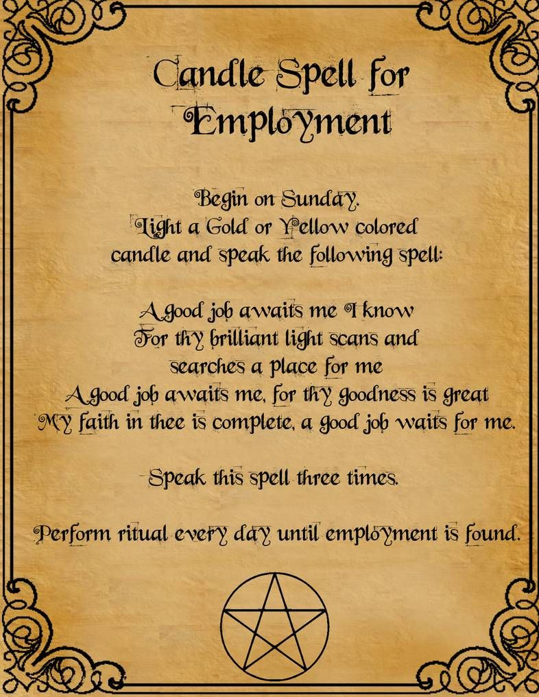 Candle Spell For Employment by minimissmelissa on DeviantArt