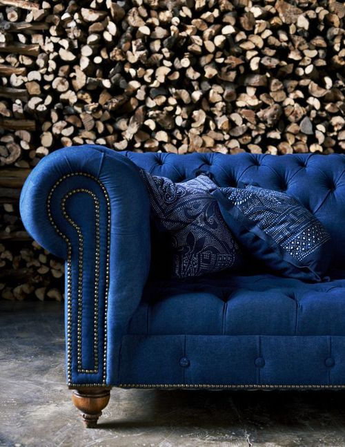 I Predict Pantone S 2015 Color Of The Year Will Be Designed Blue Velvet Sofa Blue Couches Blue Sofa
