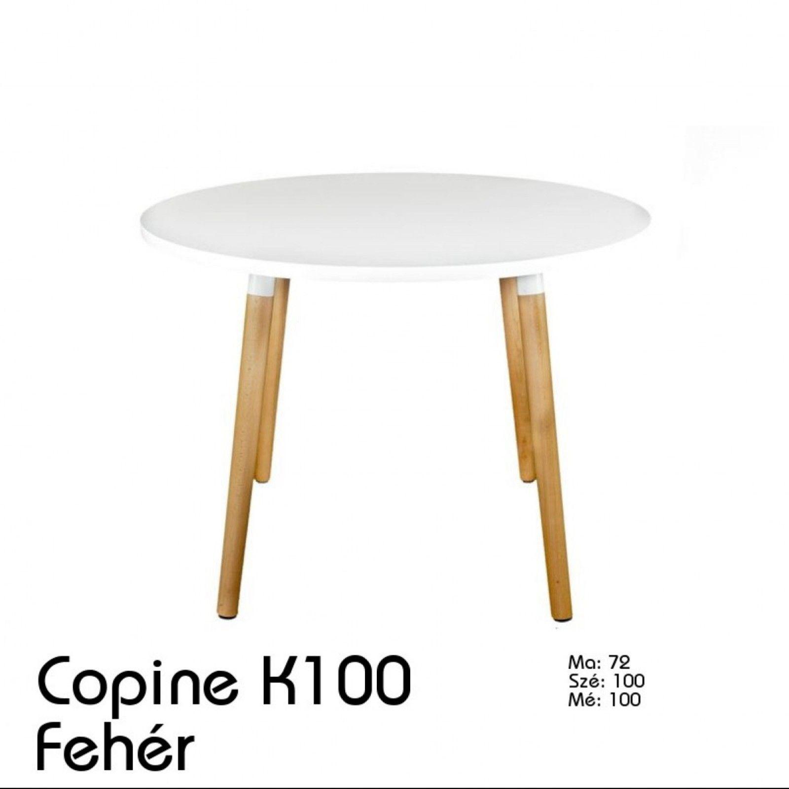 Copine K 100 asztal fehér A Copine asztal fém