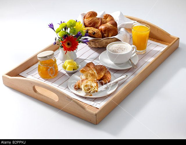 Image Of Food Tray With Continental Breakfast