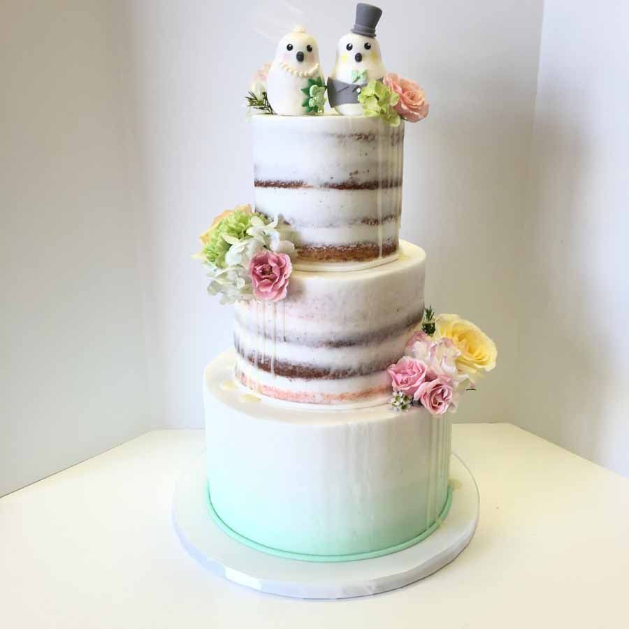 Semi-Naked-drip-cake-with-ombre-.jpg (900×900)   Wedding Cakes ...
