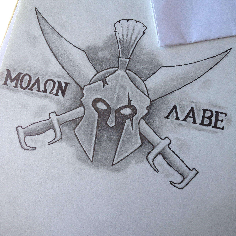 molon labe tattoo design drawings pinterest molon labe tattoo molon labe and tattoo designs. Black Bedroom Furniture Sets. Home Design Ideas
