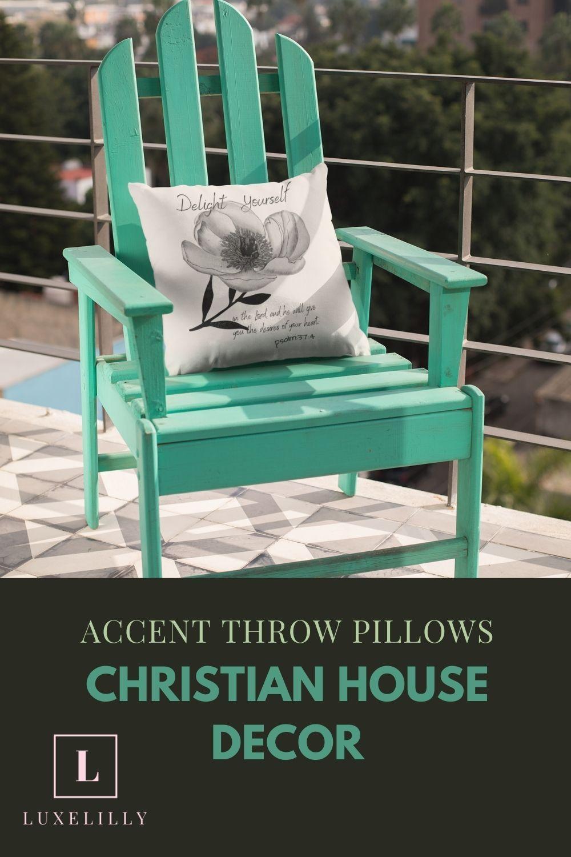 Accent Throw Pillows   Christian House Decor Accen