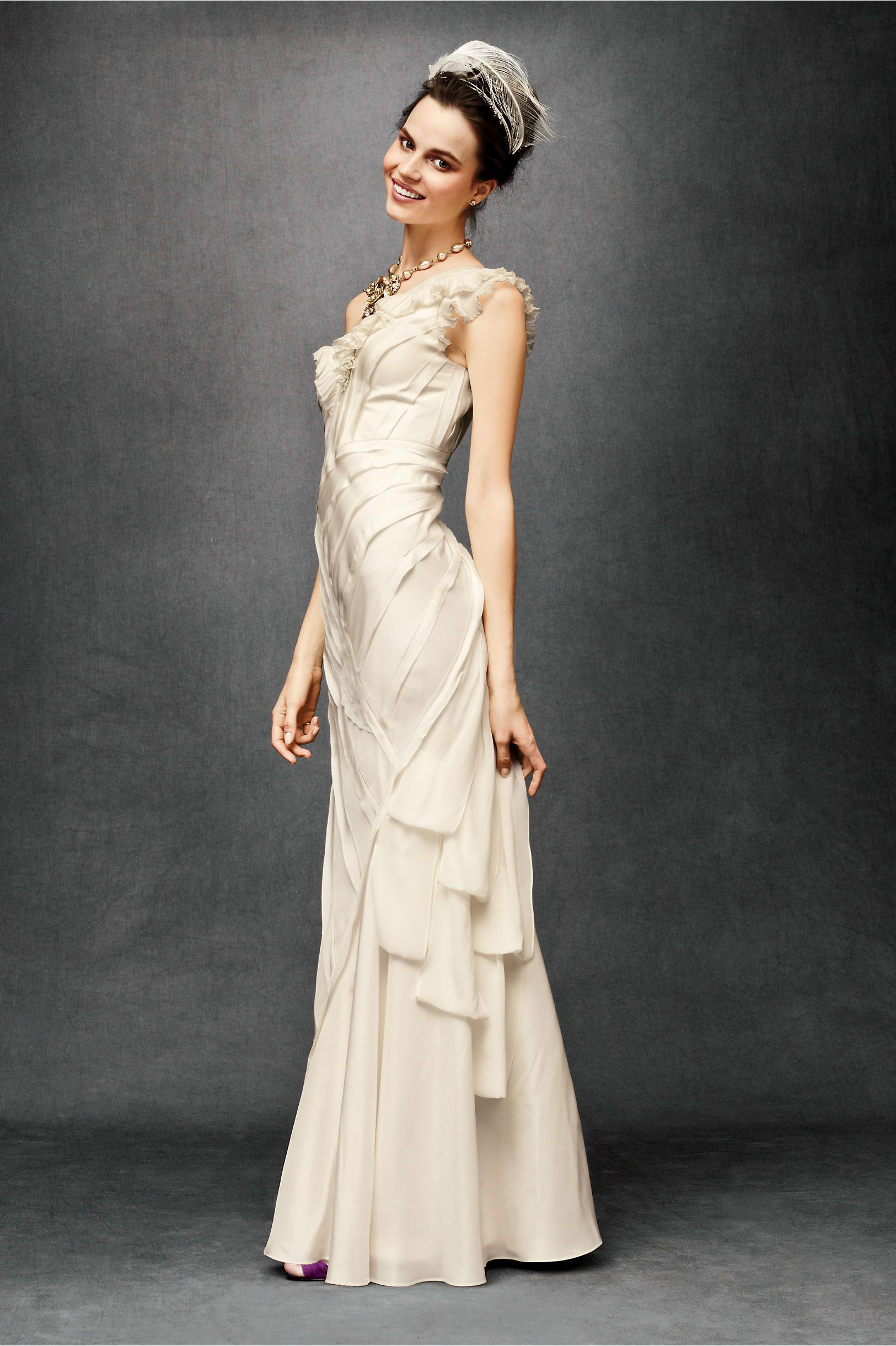 anthropologie Ribboned Silk gown - maybe if I do a vow renewal and ...