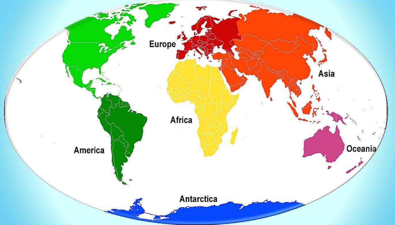 Continents For Children Continentes En Ingles Para Ninos