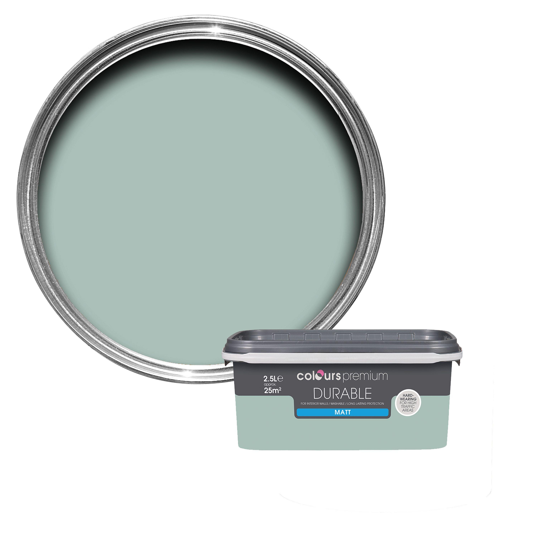 Colours Durable Eau De Nil Matt Emulsion Paint 2 5l Departments Diy At Bathroom Colors Soft Sheen Painting Bathroom