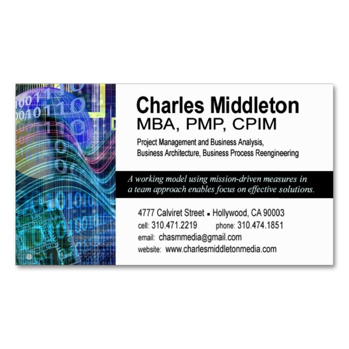 Cyber tech 1 business card template whiteblue make your own business cards colourmoves