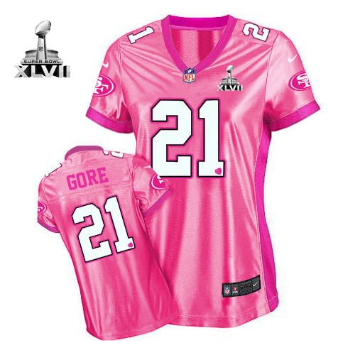 71c06ffba80 ... coupon for nfl jerseys 109.99 womens nike san francisco 49ers 21 frank  gore elite pink new