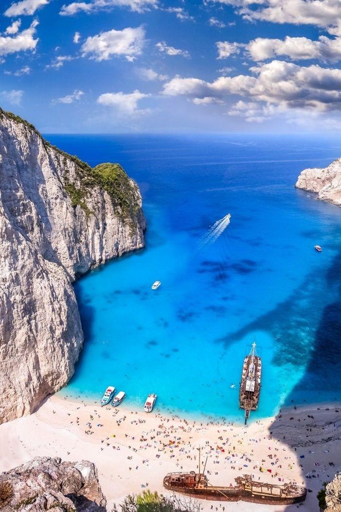 Navagio Beach Or Shipwreck Beach Zakynthos Greece Amazing Travel Destinations Zakynthos Zakynthos Greece