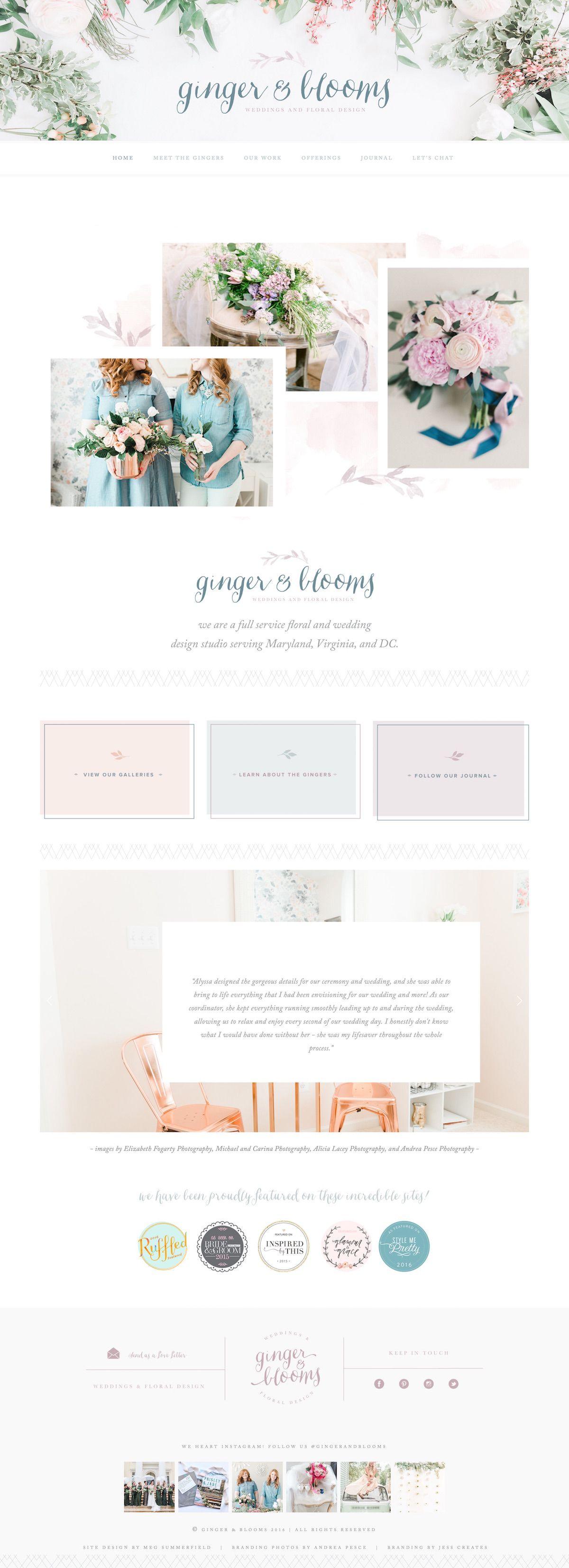 Website soft colors - 10 Example Squarespace Websites Feminine Edition