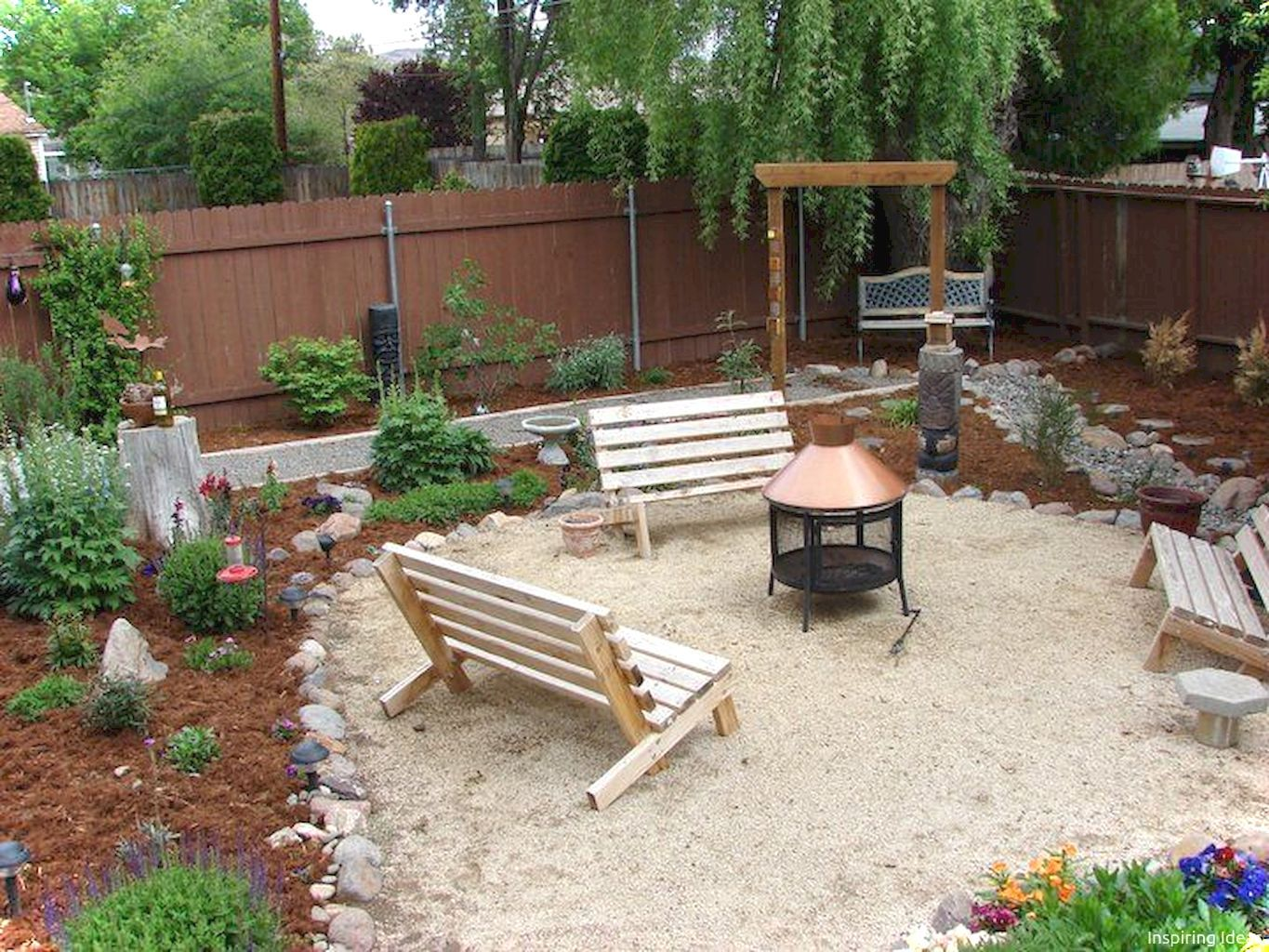 pin on exterior garden and landscape on best large backyard ideas with attractive fire pit on a budget id=45420