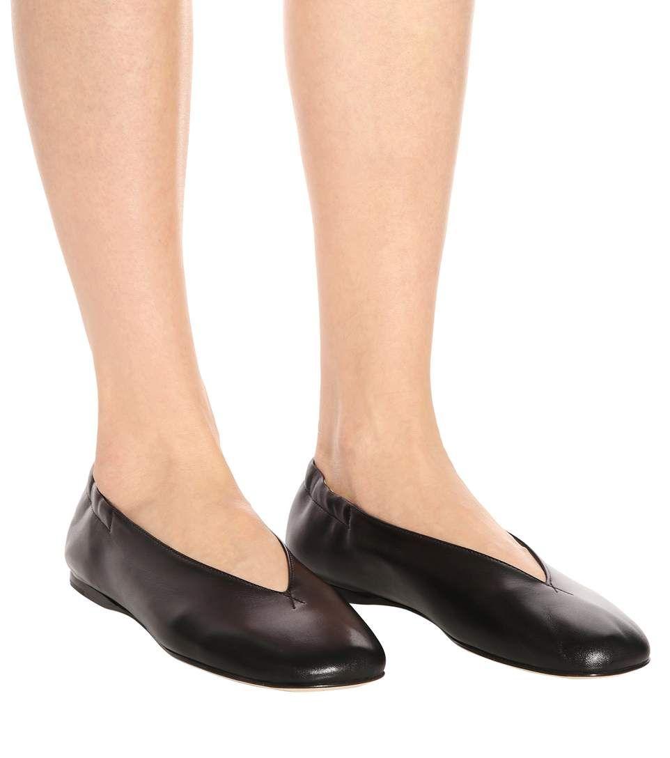 c6c05c970ad7 Oddry black leather ballerinas