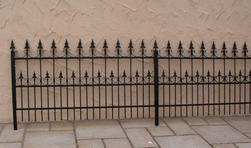 Gartenzaun metall schmiedeeisen eisenzaun zaun z une for Gartendeko schmiedeeisen