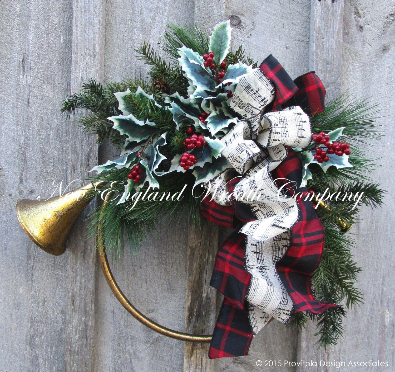 Duxbury French Horn Holiday Wreath ~A New England Wreath